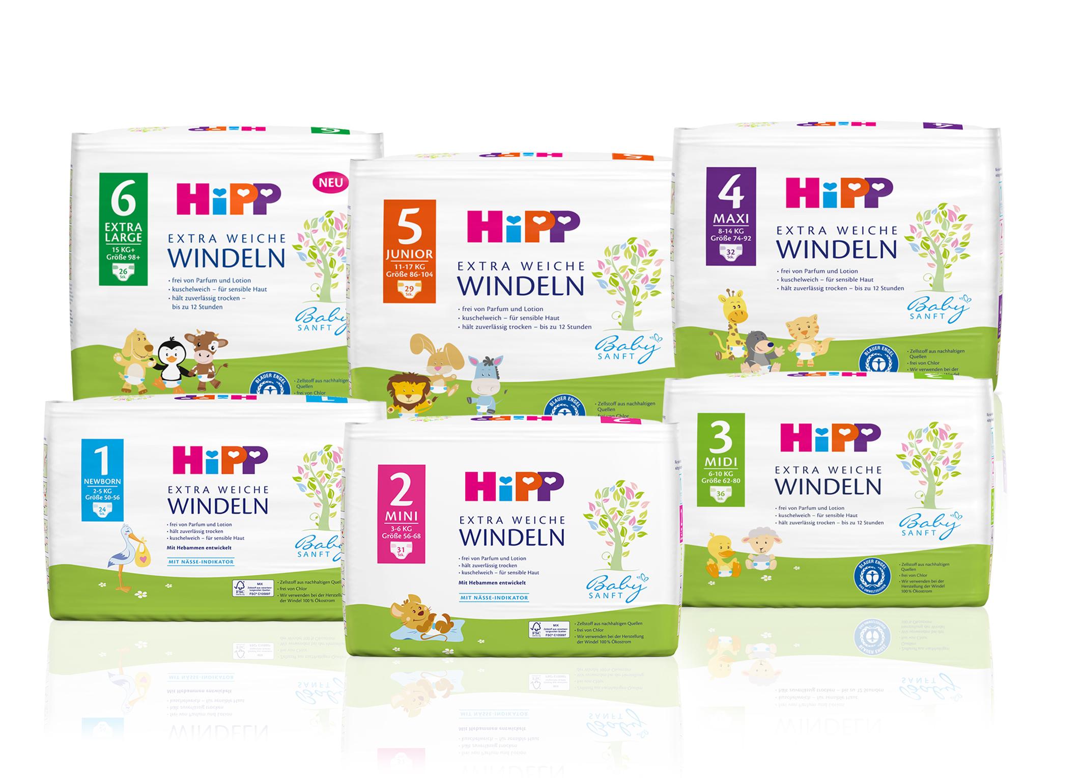 Größe 5 Geeignet von 11-17 kg 29 Stück HiPP Babysanft Windeln für Kleinkinder