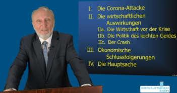 Prof. Dr. Hans-Werner Sinn zur Corona-Ökonomie